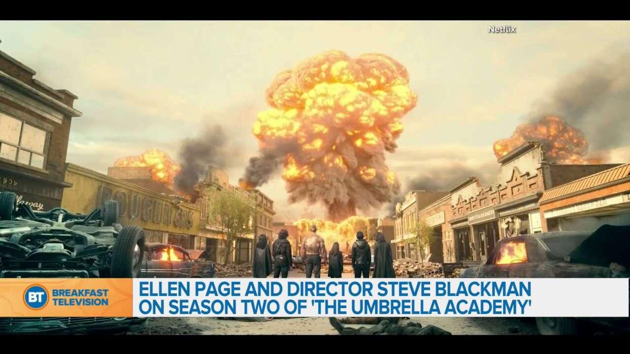Ellen Page and Director Steve Blackman on season 2 of 'The Umbrella Academy'
