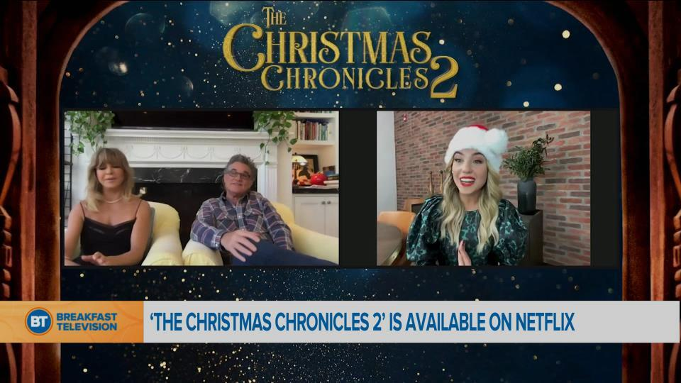 """Chatting with the cast of """"The Christmas Chronicles 2"""""""