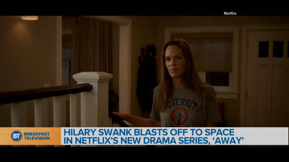 Hilary Swank blasts off to space in Netflix's new drama series 'Away'