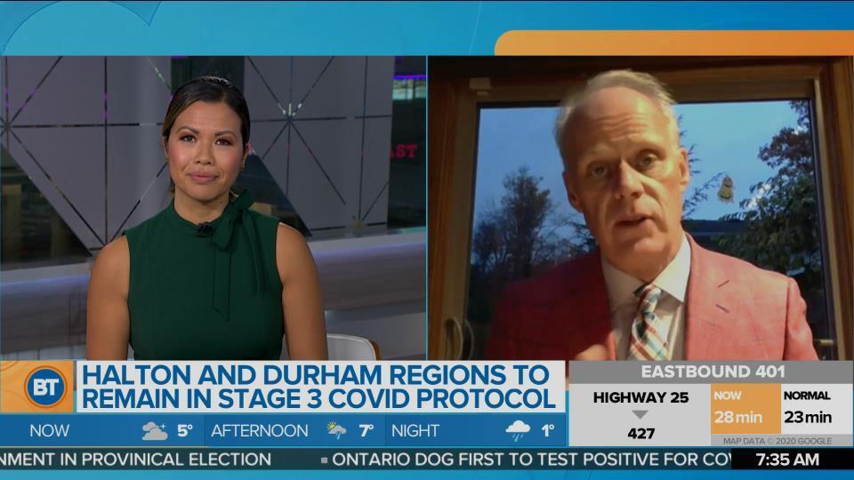 Oshawa Mayor Dan Carter discusses Stage 3 COVID protocols in Durham region