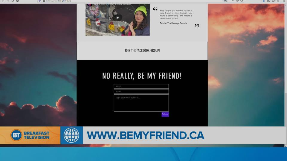 BT Bright Spot: Lonely woman who moved to Toronto starts website to make friends!