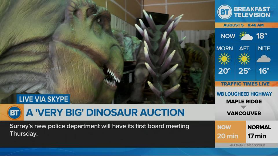 Dinosaurs on the auction block