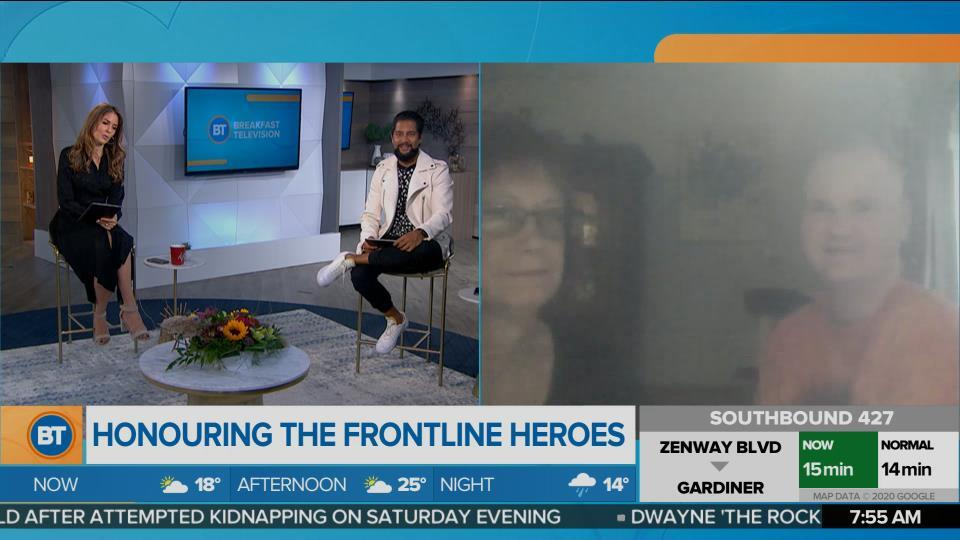 BT Bright Spot: Nurse Sharon Parker fights on the front lines while her son Eric undergoes chemo