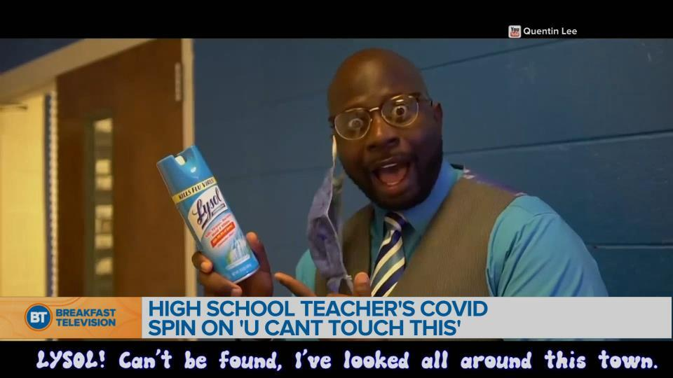 BT Bright Spot: High school teacher makes special remake of 'U Can't Touch This'
