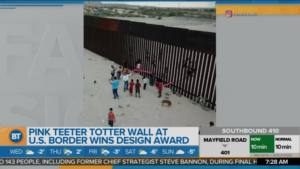 BT Bright Spot: Pink Teeter Totter Wall at U.S. Border Wins Design Award