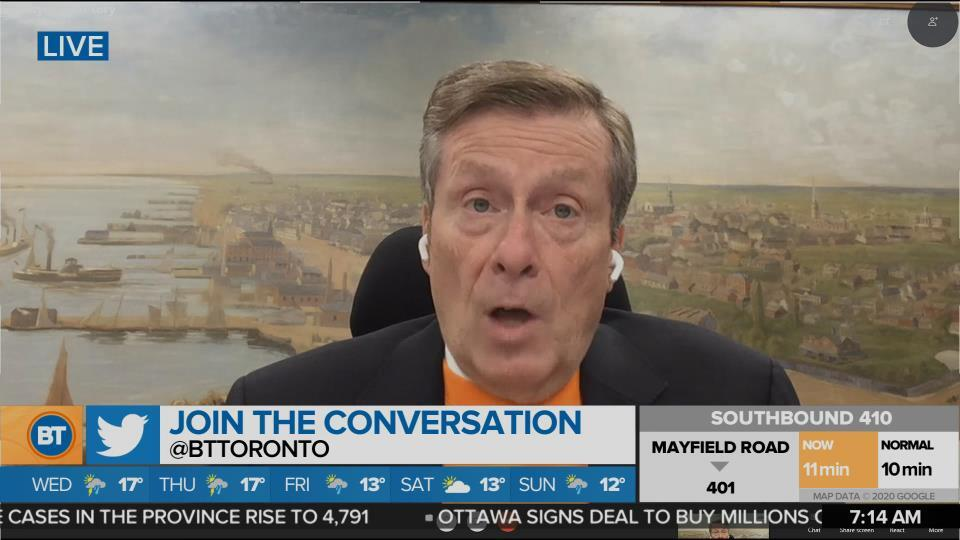 Mayor John Tory discusses the city's plan for the second wave of COVID-19