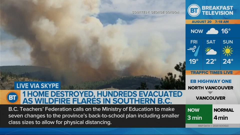 Wildfires continues to rage in B.C.'s Okanagan.