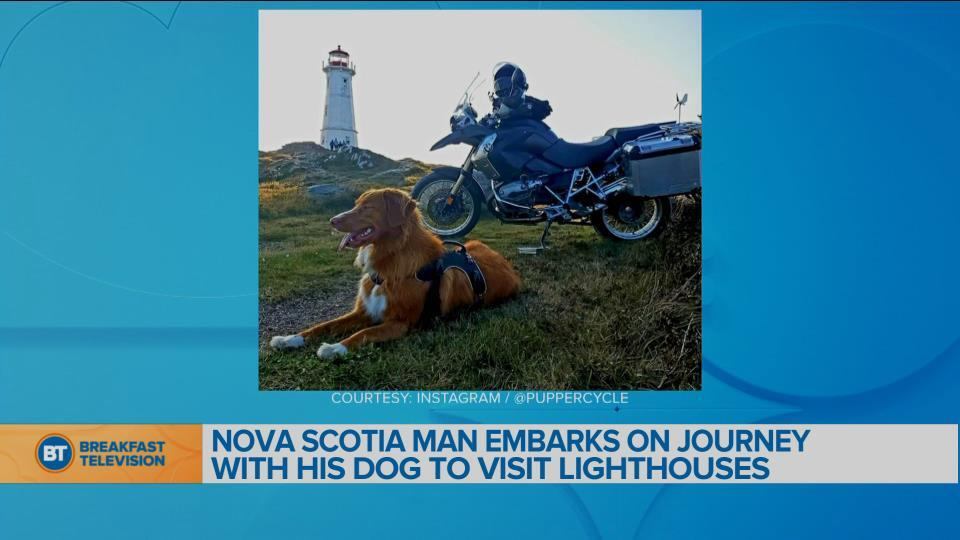 BT Bright Spot: Nova Scotia man embarks on a journey with his dog to visit lighthouses