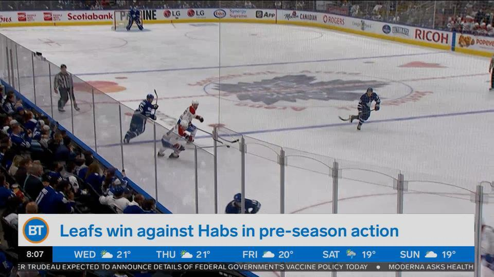 Bright Spot: Leafs win against Habs in pre-season action