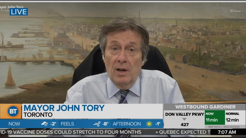 Mayor John Tory On Whether Toronto Should Enter The 'Grey' Phase Of Reopening