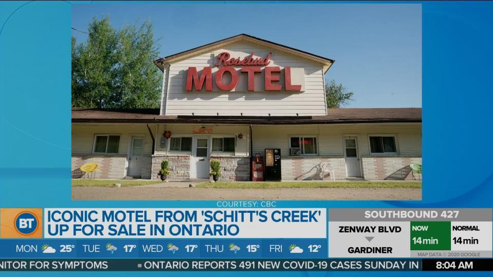 """Iconic motel from """"Schitt's Creek"""" is up for sale"""