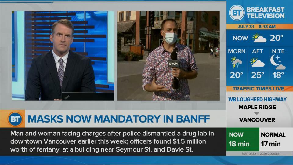 Mandatory masks in Banff