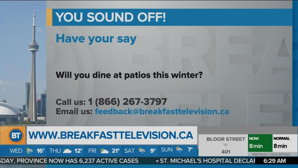 You Sound Off: Will you dine at patios this winter?