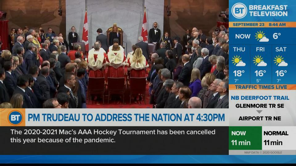 Ottawa preparing for speech from the throne and update from Prime Minister Justin Trudeau