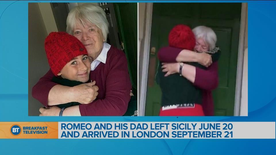 10-year old walks 1,700 miles to hug grandma