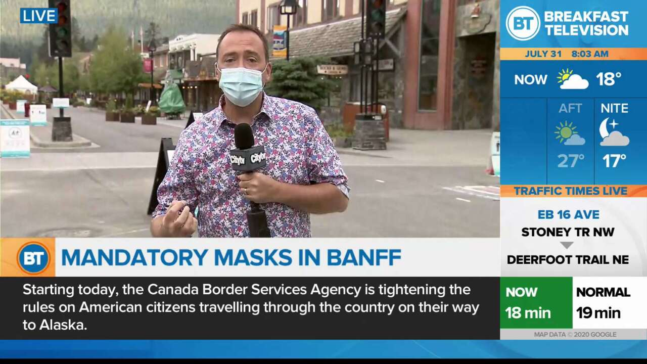 On Location: Mandatory Masks in Banff
