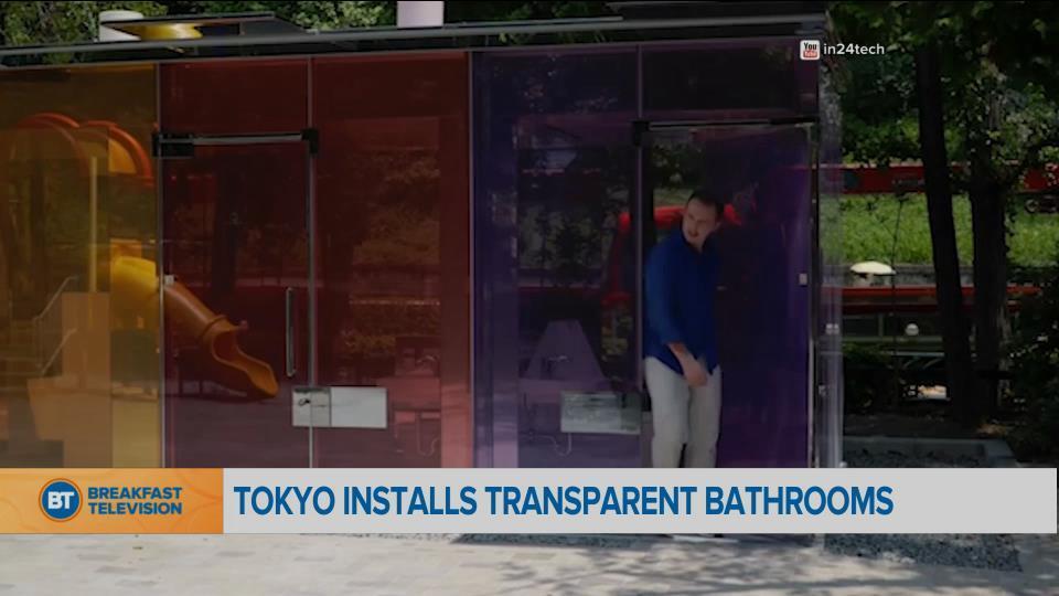 New transparent bathrooms in Tokyo