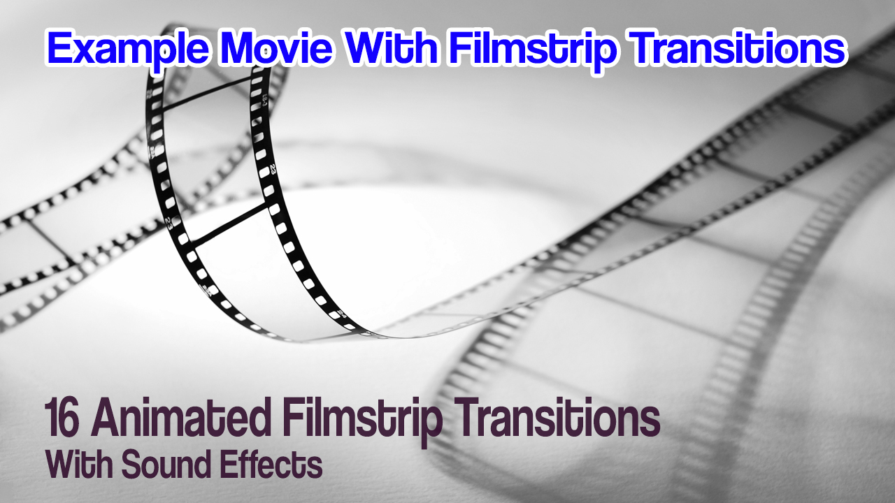 Premium Pack: 16 Animated Filmstrips W/Sound FX