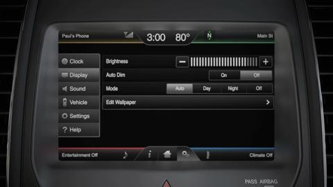 Changing Display Settings Sync Video Official Ford Owner Site