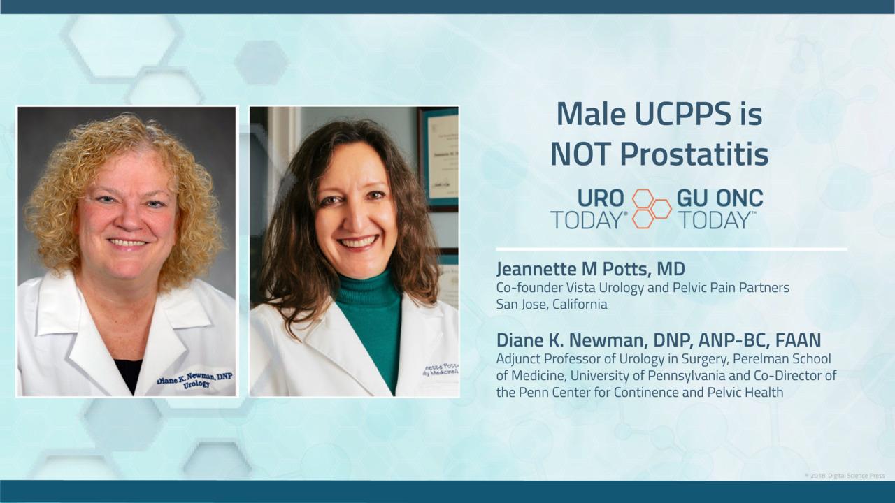 Male UCPPS is NOT Prostatitis - Jeannette Potts