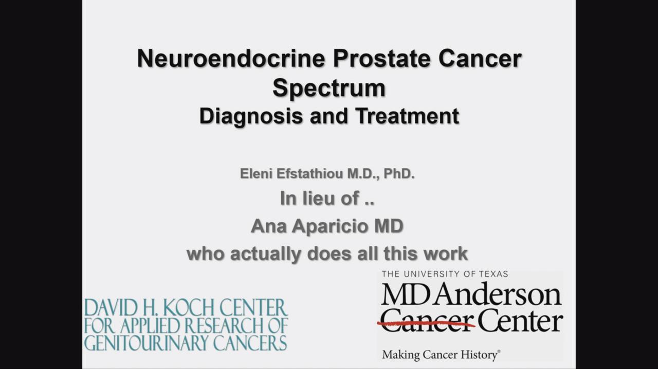 neuroendocrine cancer md anderson negi lupta