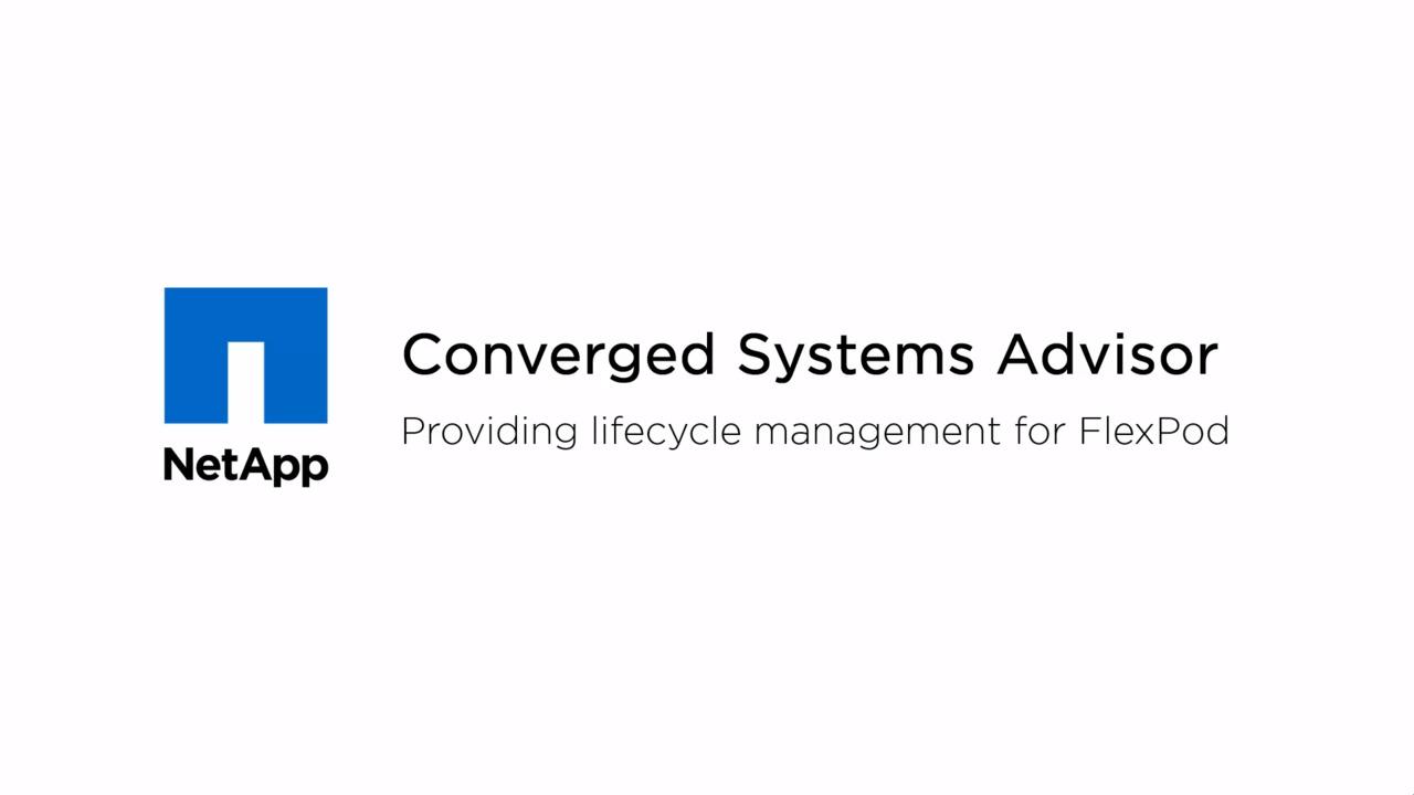 Converged Infrastructure – FlexPod Solutions – Cisco | NetApp