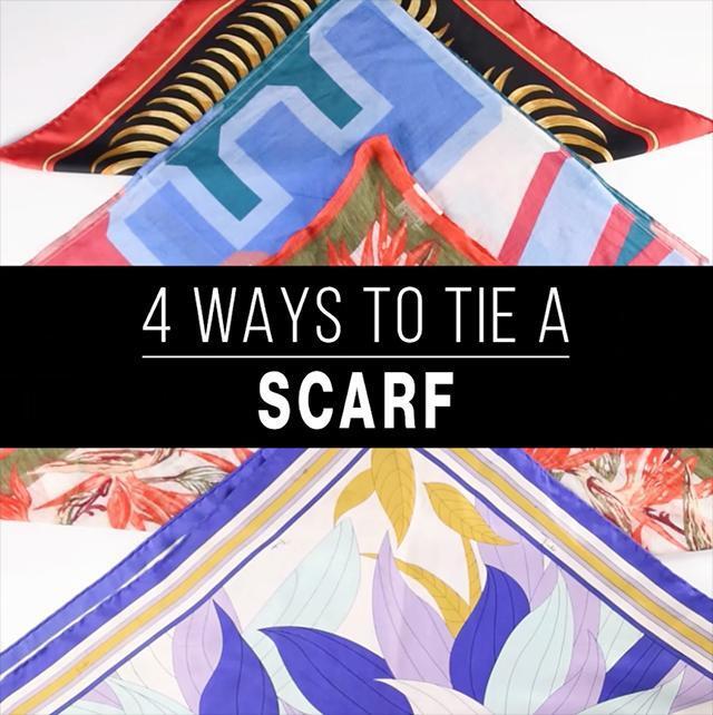4 ways to tie a scarf