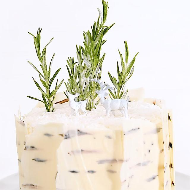 How to decorate a cake: Edible birch bark