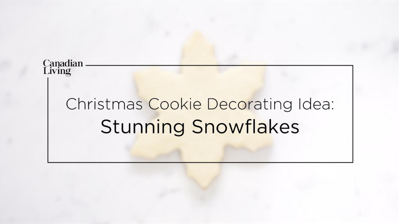 Christmas Cookie Decorating Idea: Stunning Snowflakes