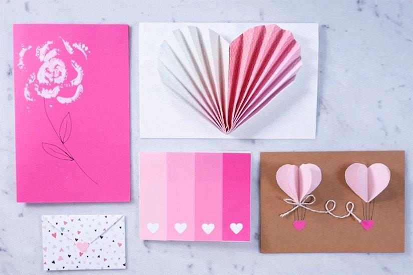 5 UNIQUE DIY VALENTINE'S DAY CARDS