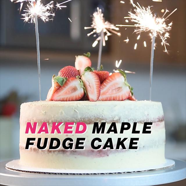 NAKED CANADIAN MAPLE FUDGE CAKE