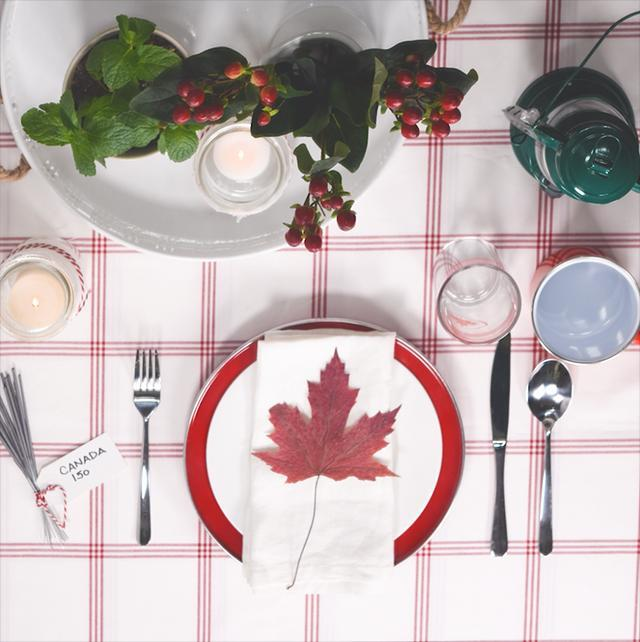 How to create a Canada Day tablescape
