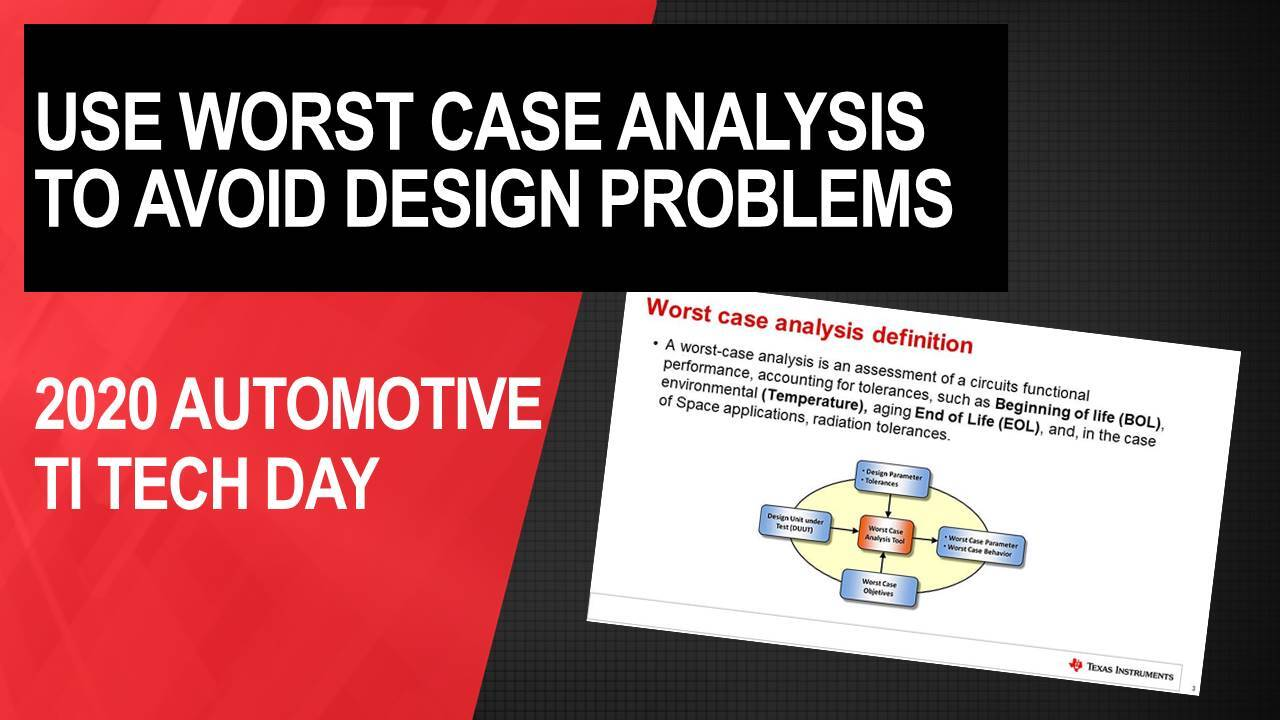 How to Avoid Design Problems by Using Worst Case Analysis ...
