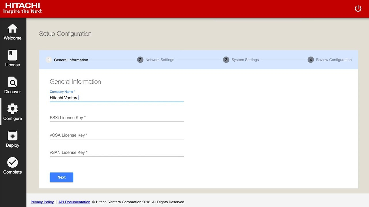 Use Hitachi UCP Advisor deployment manager to set up your