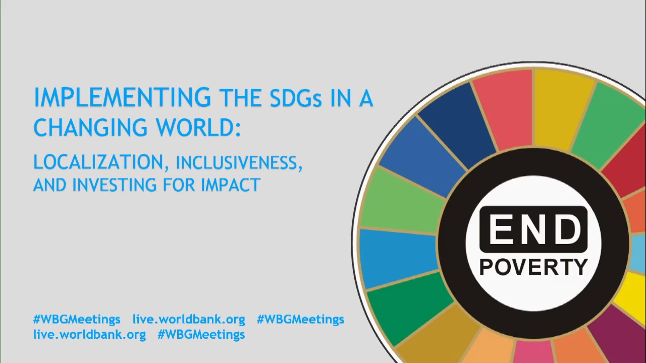 Implementing the SDGs in a Changing World