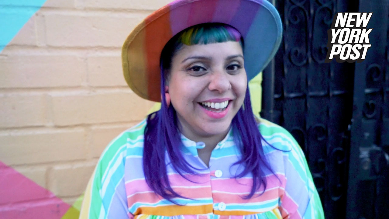 Rainbow-obsessed lady owns multicolored everything