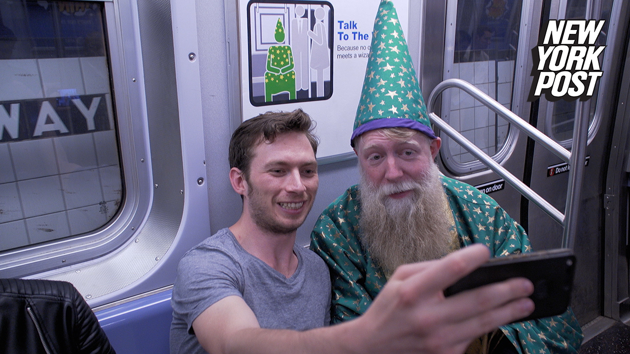 Subway Wizard of New York adds a little magic to commuters' hell