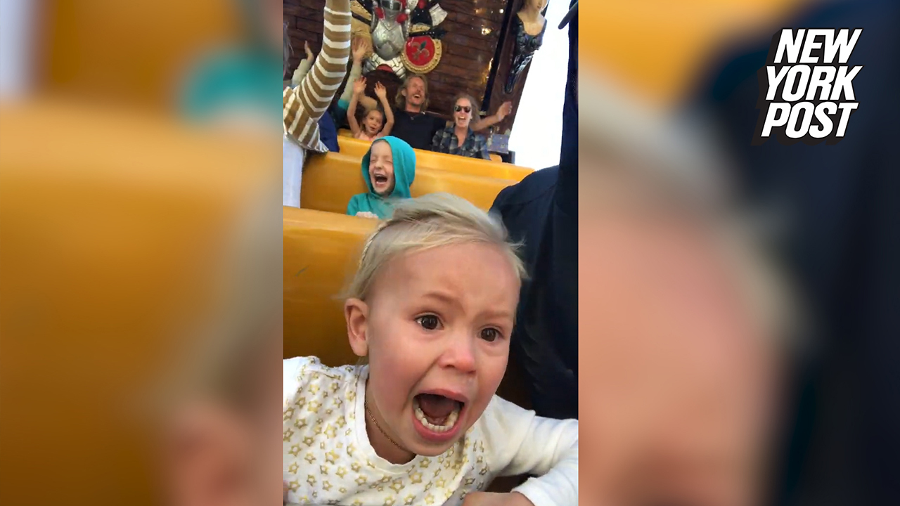 Girl's first trip to the amusement park was one emotional ride