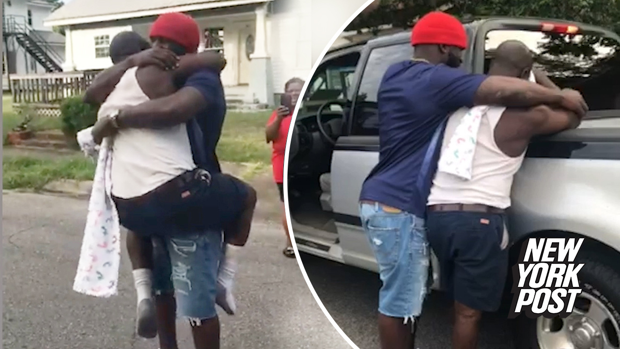 Tearful dad surprised with a new truck