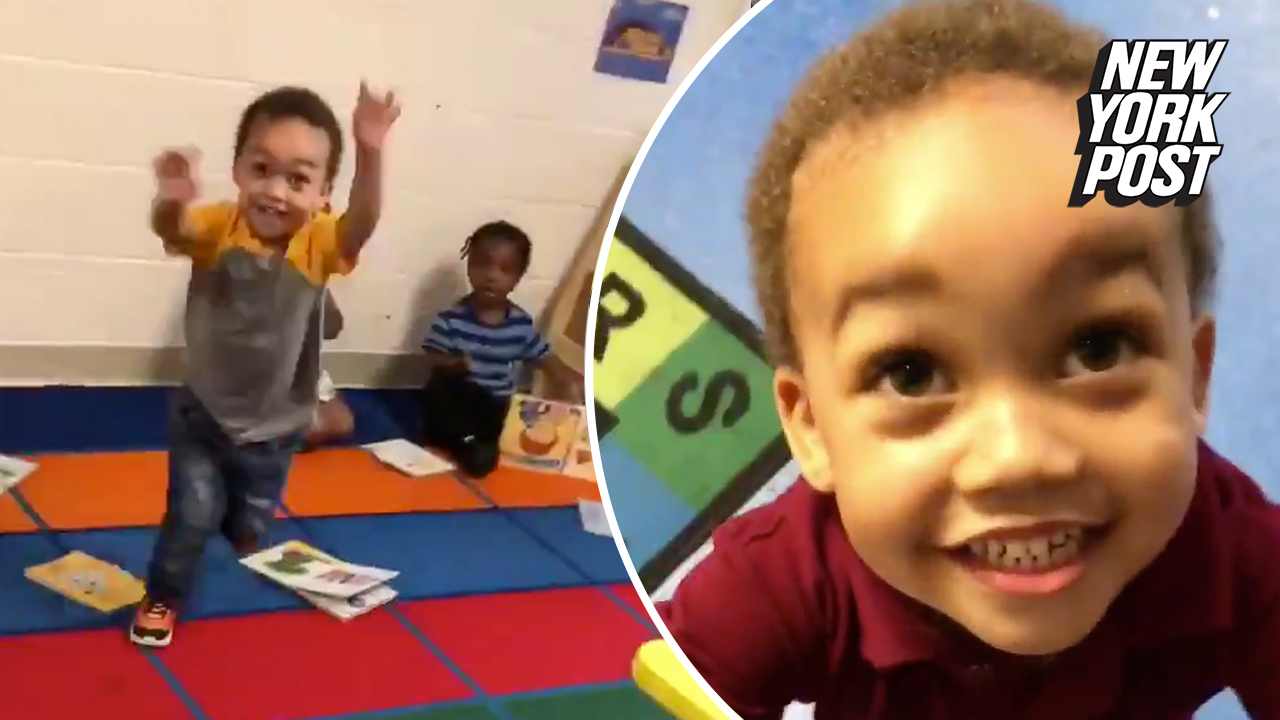 'Daddy!': Preschooler's pure joy at seeing his father will melt