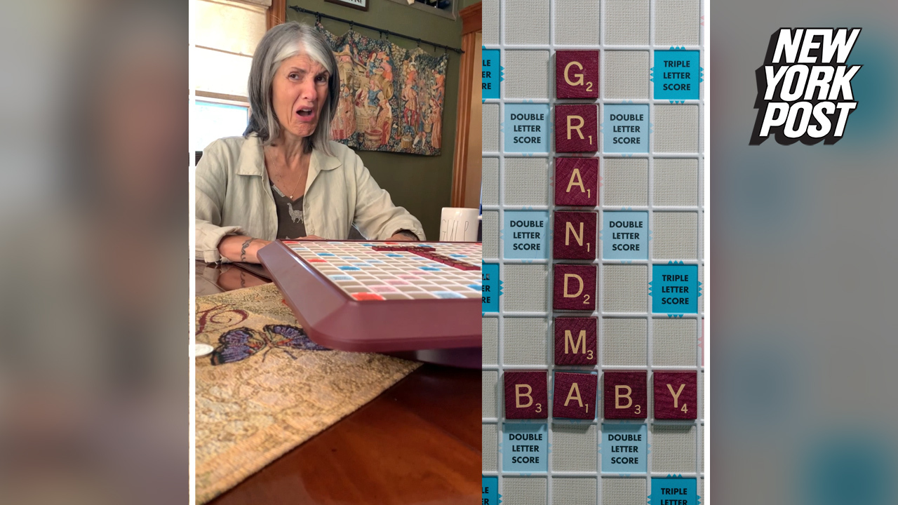 Scrabble baby news brings first-time grandma to tears
