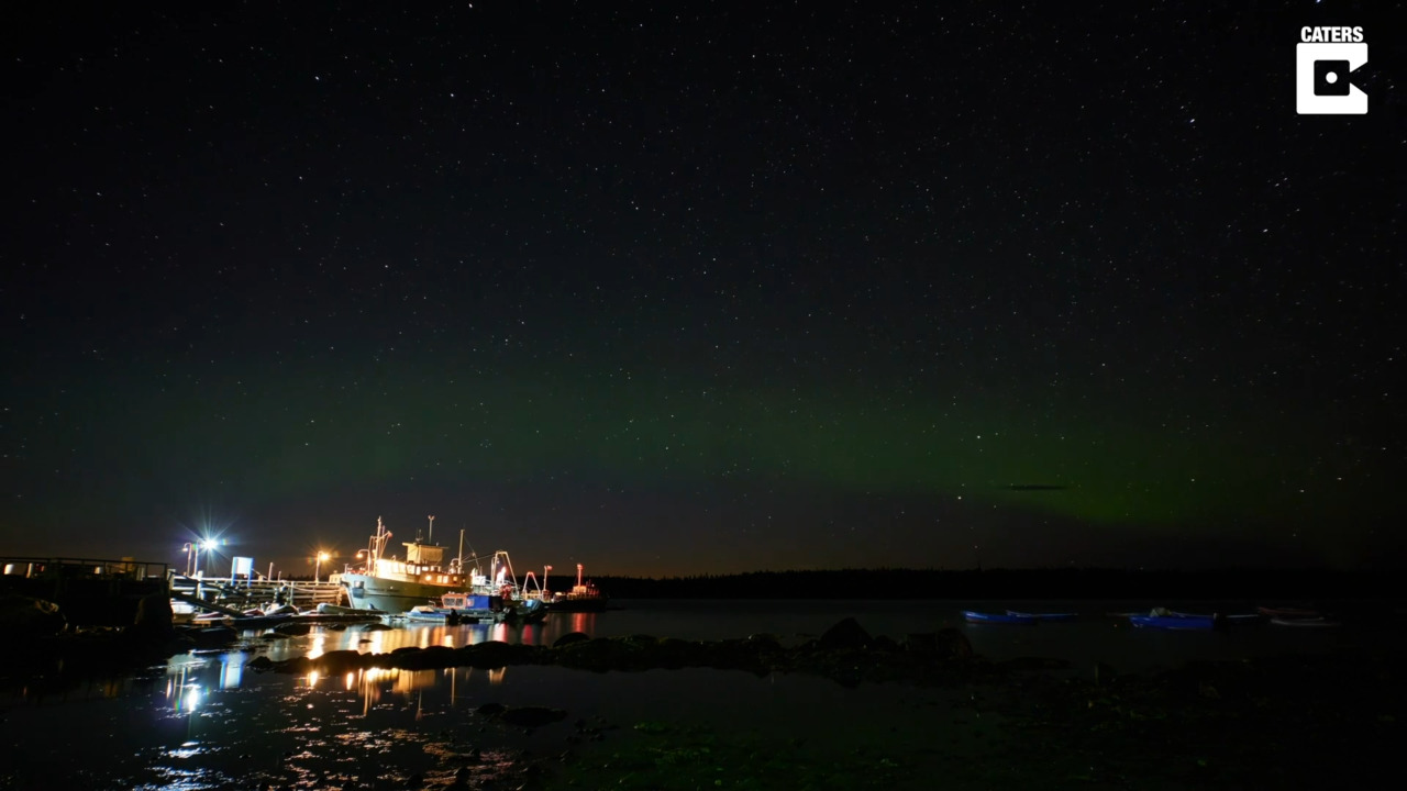 Rocket causes 'space jellyfish' over Northern Lights