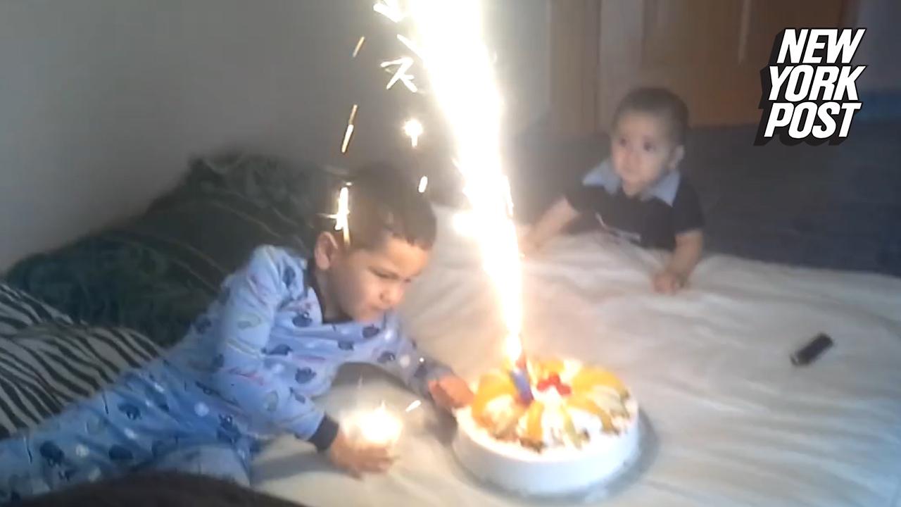 Phenomenal Birthday Cake Wake Up Call Fails As Boy Face Plants Into His Surprise Funny Birthday Cards Online Amentibdeldamsfinfo