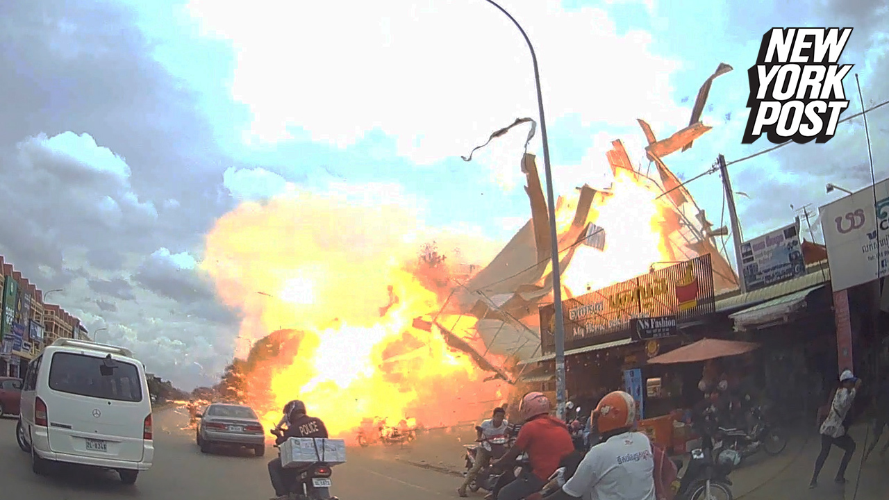 Gas station explosion burns skin of two female tourists