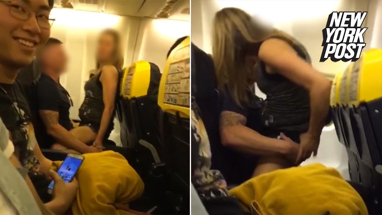 Airline Milf man cheats on pregnant fiancée on packed flight