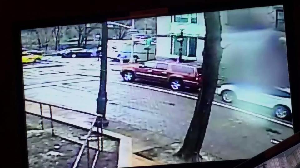 Shocking footage shows mail truck crushing pedestrians