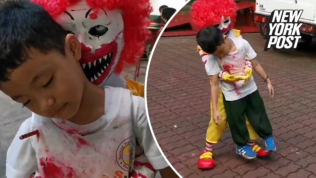 Creepy Ronald McDonald slays the competition