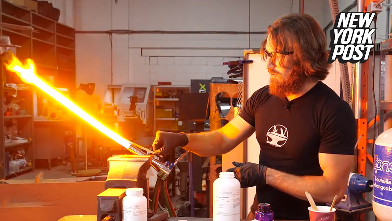 Engineer creates real-life 'Star Wars' lightsaber that can slice through  metal
