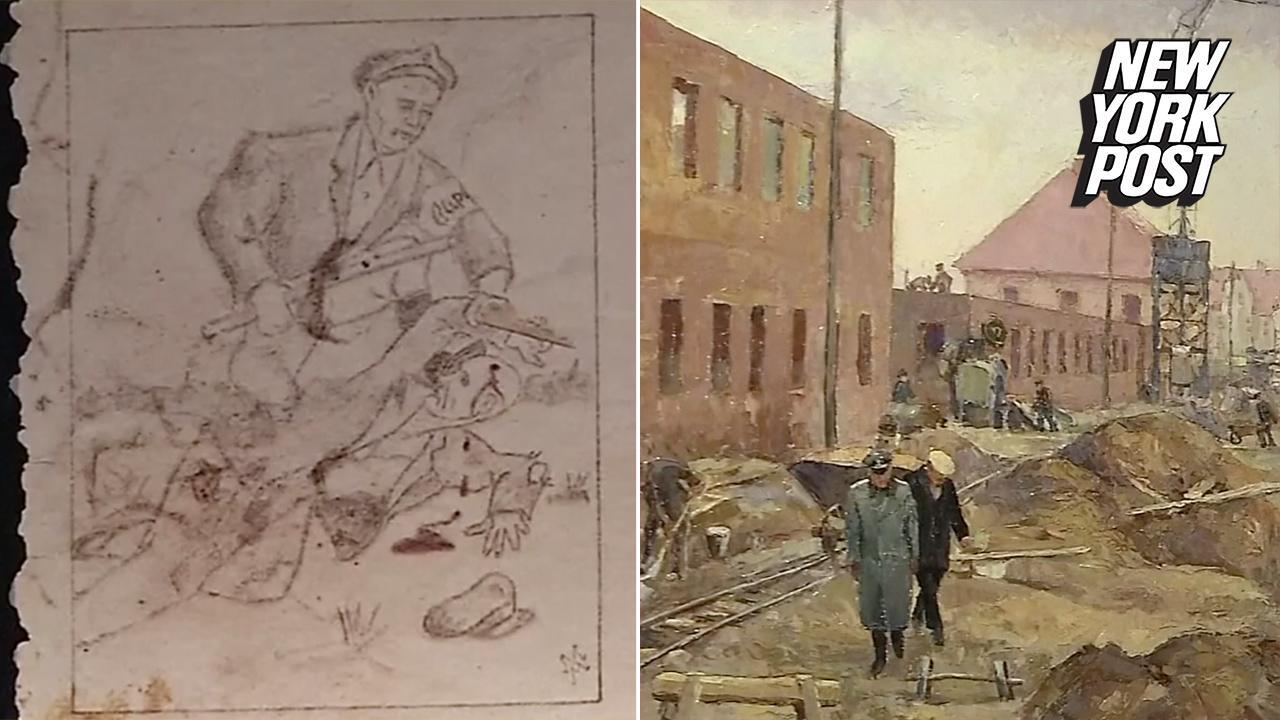Art made in Auschwitz reveals the horrors inside the death camp