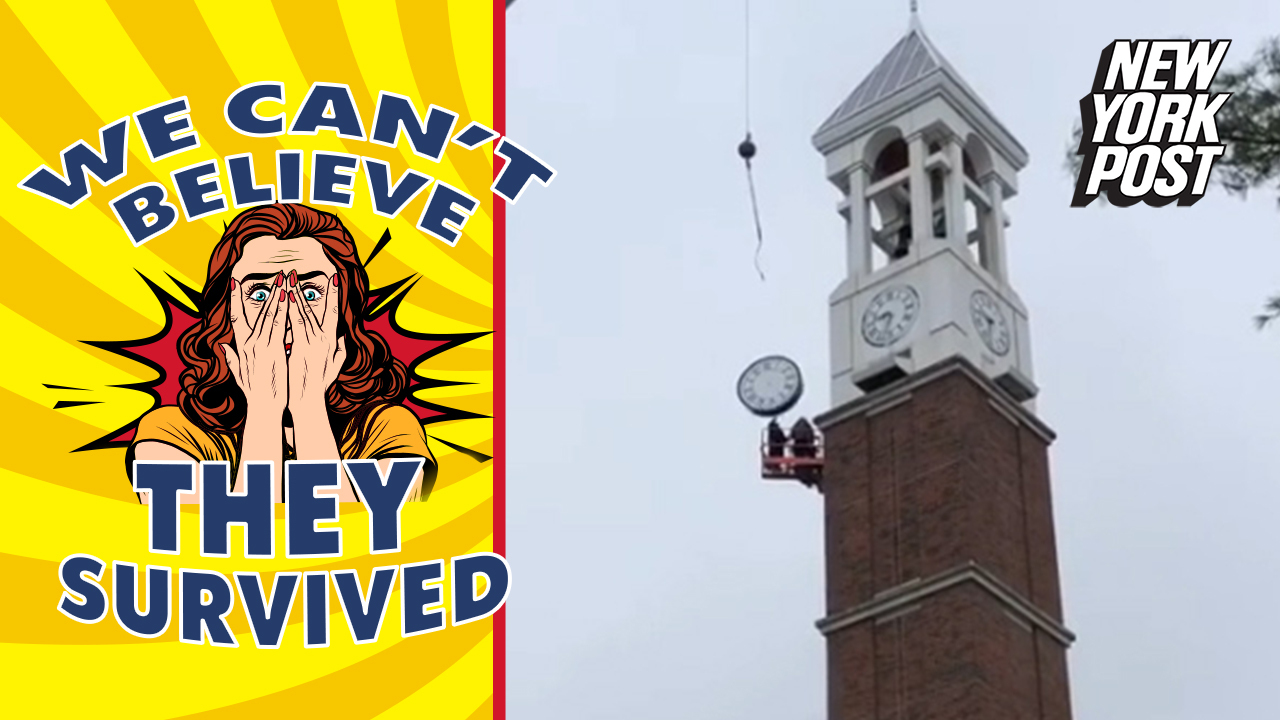 Giant clock nearly crushes repairman and more death-cheating videos